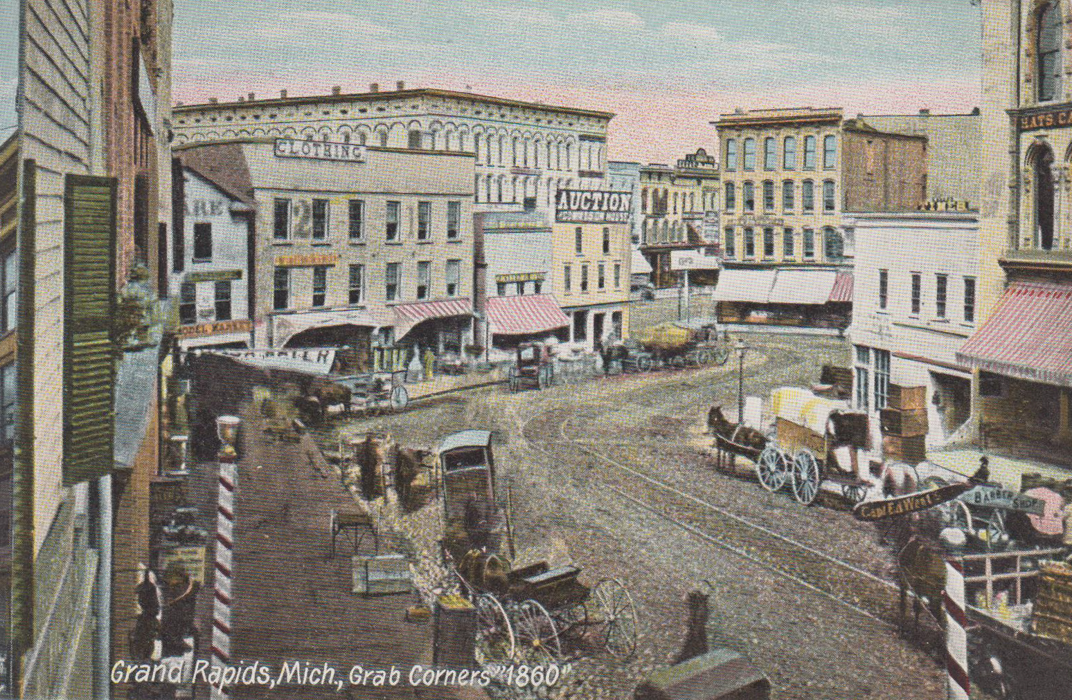 Grand Rapids, MI – Grab Corners – circa 1860